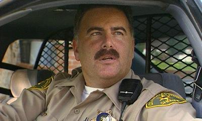 Sheriff deputy in car